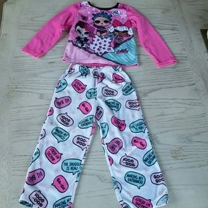 LOL Surprise Fleece Pajama Set size 5/6